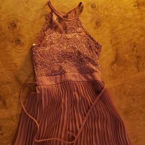 Girls dressy mauve bling dress